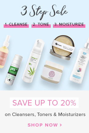 3 Step Sale: Save up to 20% off select Cleansers, Toners and Moisturizers