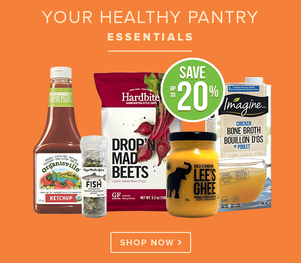 Save up to 20% off Your Healthy Pantry Essentials