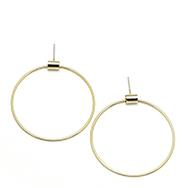 Lovers Tempo Large Swing Hoop Earrings Gold